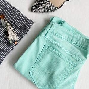 Just Black Stitch Fix Mint Green Skinny Pants 30